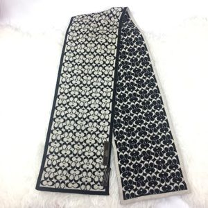 Coach Black and white Merino wool scarf